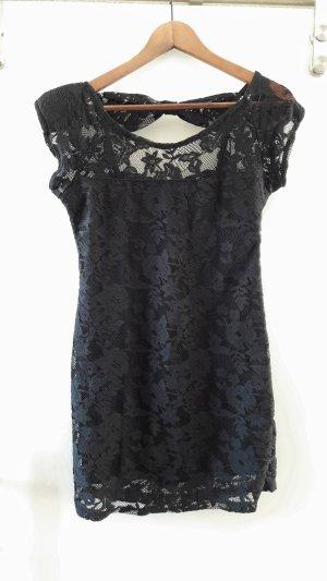 Zara Robe courte noir tissu mixte