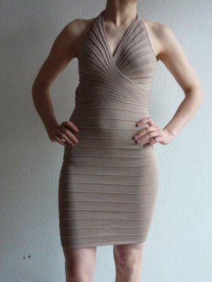 Halter Dress beige