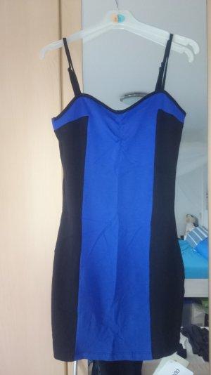 Sexy Minikleid schwarz-blau