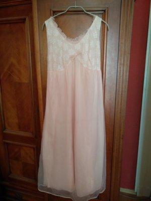 Négligé rosé-blanc nylon