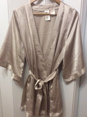 H&M Dressing Gown silver-colored