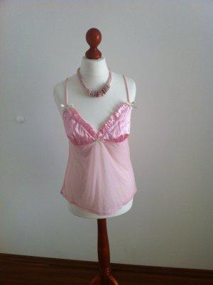 sexy Neglige-Hemd transparent rosé