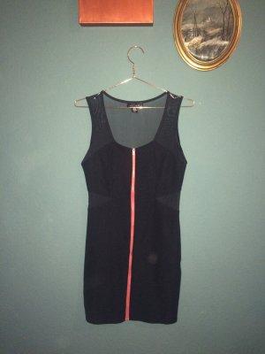 Sexy Night-Out Kleid mit rotem Reißverschluss