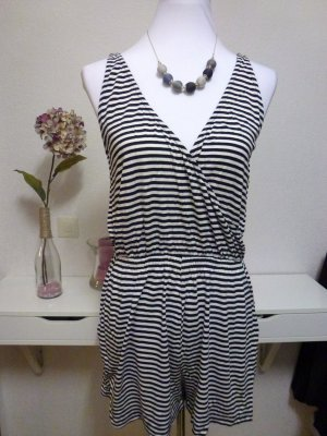H&M Strandkleding wit-zwart Viscose