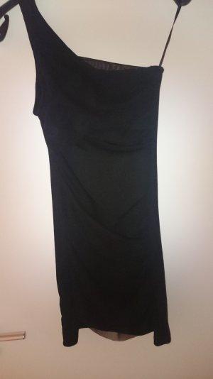 Zara Trafaluc Vestido de un hombro negro