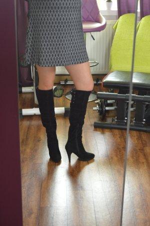 Sexy Overkniee Stiefel mit Schnrürung hinten Gr. 39