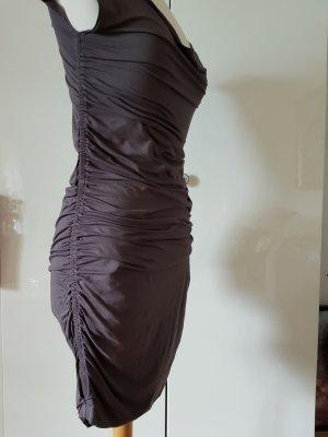 Vestido de tubo marrón grisáceo tejido mezclado