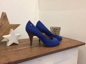 Sexy Peeptoes in Royal blau
