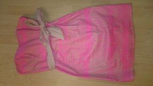 Sexy Pink Beiges Minikleid mit Corsage und Gürtel von H&M in 38