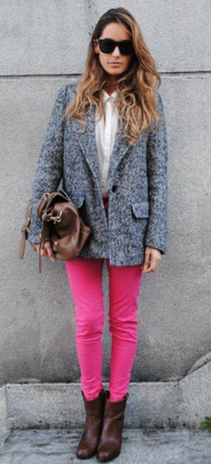 Sexy pink Pants mit seitlichem Reißverschluss
