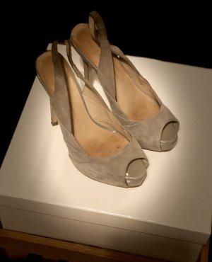 Zara Sandales à plateforme beige clair-taupe