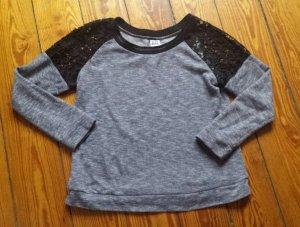 sexy Pullover mit Spitze Gr.M