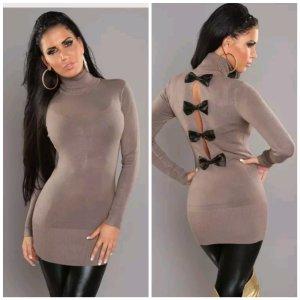 Sweater Dress khaki mixture fibre