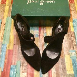 Paul Green Tacones de tiras negro