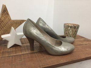 Sexy Pumps in metallic Silber/Gold