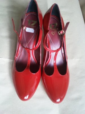Görtz 17 Mary Jane Pumps red imitation leather