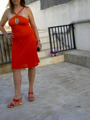 Sexy rotes Fornarina Kleid Gr. M