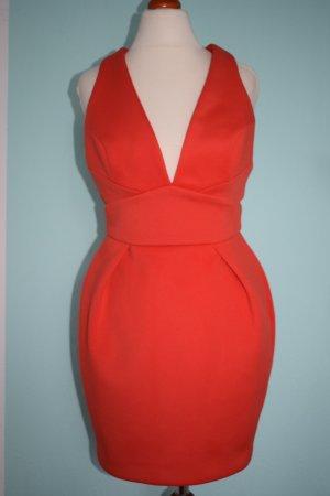 sexy rückenfreies Kleid orange Asos Gr. 36 Coctailkleid
