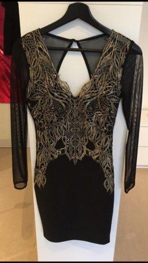 Sexy Rückenfreies Kleid von Lipsy in schwarz - gold