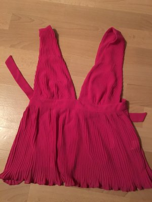 Sexy rückenfreies top pink