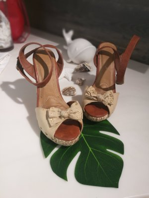Wedge Sandals brown-beige