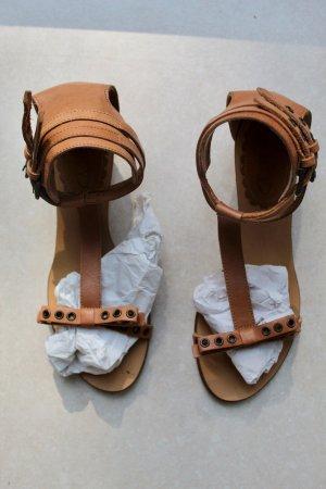 RED Valentino Platform Sandals beige leather
