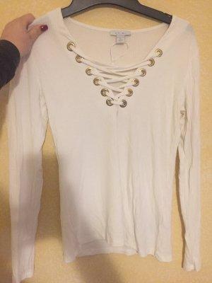 Amisu Camicia lunga bianco-oro