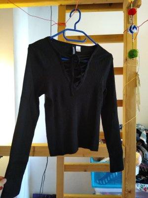 Sexy schwarzes Langarmshirt