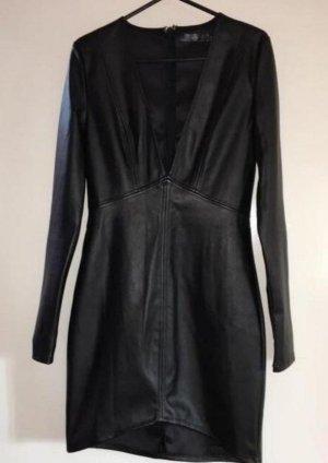 Missguided Leren jurk zwart