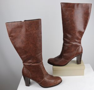 High Heel Boots multicolored imitation leather