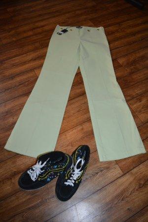 Stretch broek lichtgroen