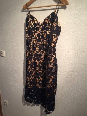 Minimum Lace Dress dark blue-nude