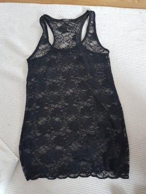 Sexy Spitzenshirt in Schwarz von Amisu (M)