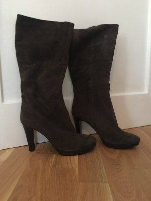 Taupage High Heel Boots black brown-taupe