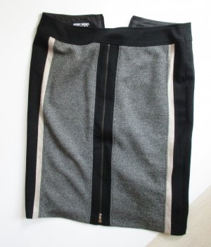 Sexy Streifen Stretch Rock Gerry Weber Größe Schwarz Beige Grau Tweed Pencil Skirt Minirock Business Eng