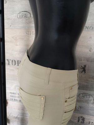 Sexy Stretchhose NEU ✔ Kunstleder PU-Leder Röhre Skinny Hüfthose Reißverschluss passt bei Größe 32/34