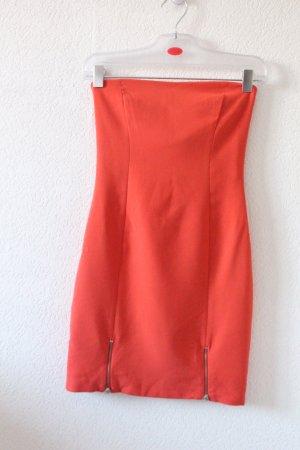 Zara Vestido elástico rojo