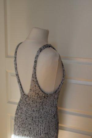 Sexy Strick Kleid, silber schwarz, Lurex & Baumwolle, Strech, 36, H&M