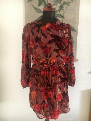 sexy Studio 54 Kleid Mini Minikleid Samt Lame Glanzfäden 36 S wunderschön new look asos