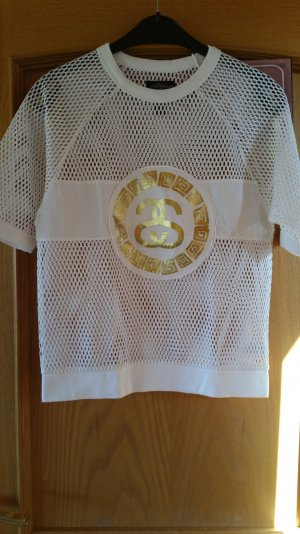 Stüssy Mesh Shirt white-gold-colored polyester