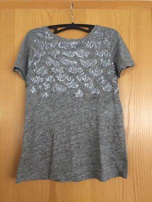 Kookai Camiseta color plata-gris Lino