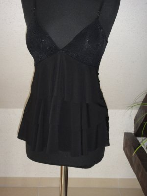 Sexy TOP Sommer Shirt DAMEN SHIRT Top Gr. 36 Schwarz