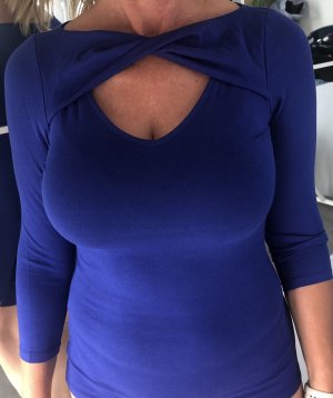 Guess Cut Out Top blue