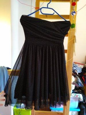 Tally Weijl Off the shoulder jurk zwart-goud