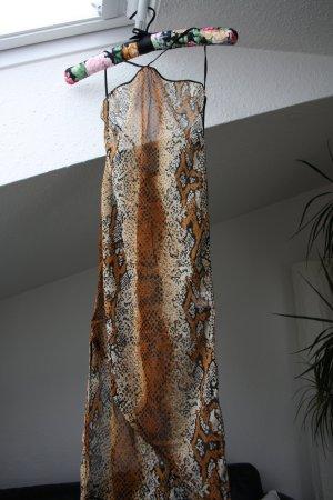 Sexy transparentes asymmetr. Kleid in Tierprint S/M