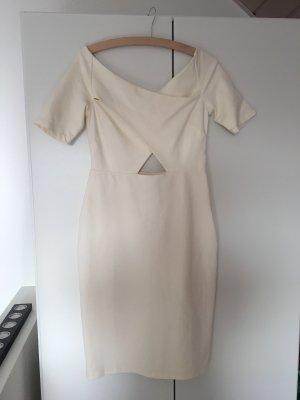 H&M Vestido cut out blanco puro-crema