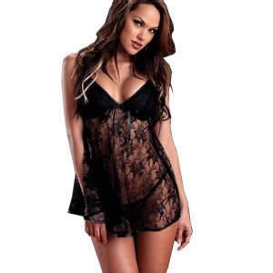 H&M Negligee black cotton