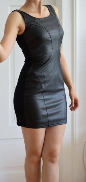 Vero Moda Leren jurk zwart