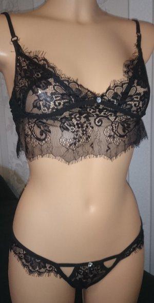 Sexy Wäsche Set Schwarz