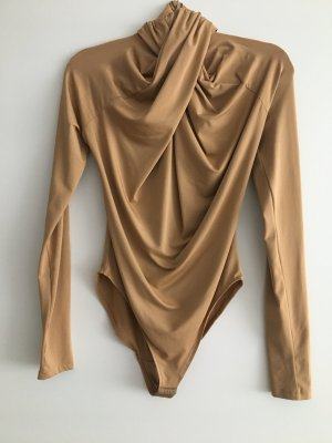 H&M Conscious Exclusive Bodysuit Blouse cream-camel
